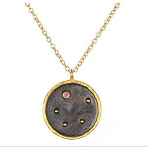 Libra Zodiac Necklace by Satya <gold & tourmaline>